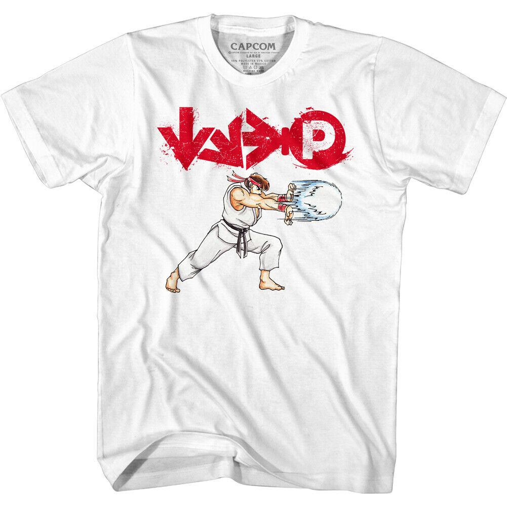Street Fighter Ryu Hadouken T Shirt Mens Gaming T Shirts Societees