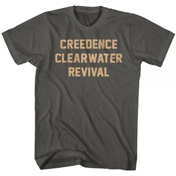 Maria M Arnold Creedence Clearwater Revival Men Popular Short Sleeve Music Band Shirts Black