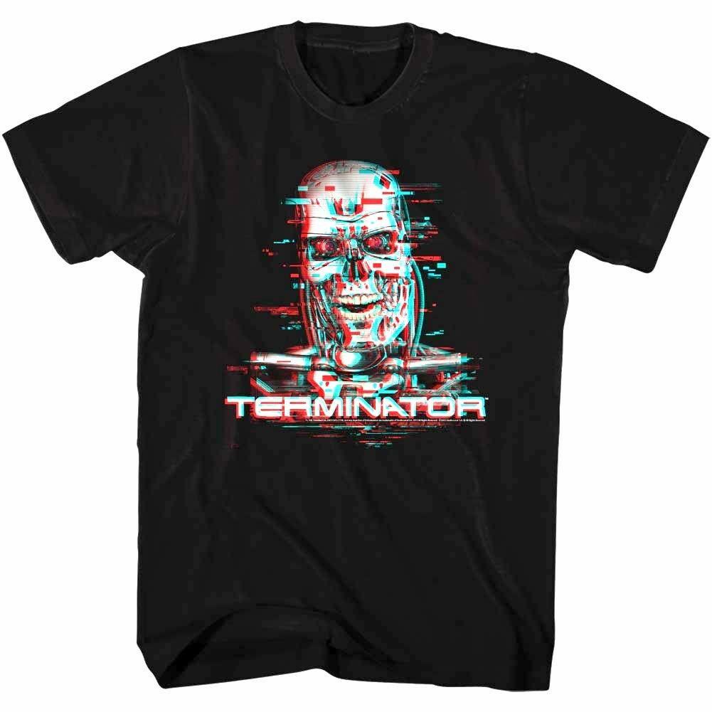 Terminator Cyberdyne Systems T-800 Glitch Mens T Shirt Movie Cyborg Robot Sci-Fi