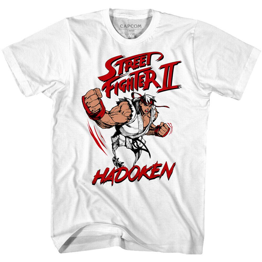 Street Fighter Ryu Hadoken T Shirt Mens Gaming T Shirts Societees