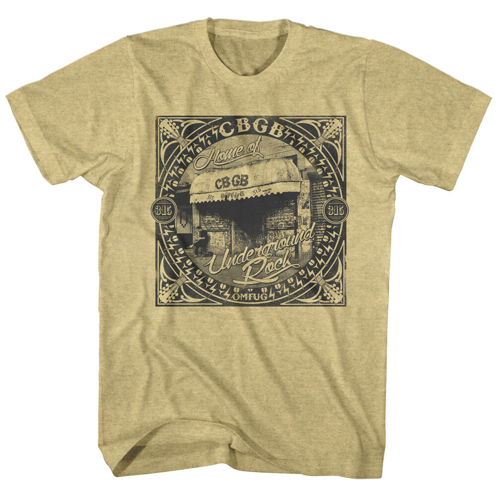 CBGB OMFUG Leopard Logo Men/'s T Shirt Underground Punk Rock Metal NYC Tee Merch