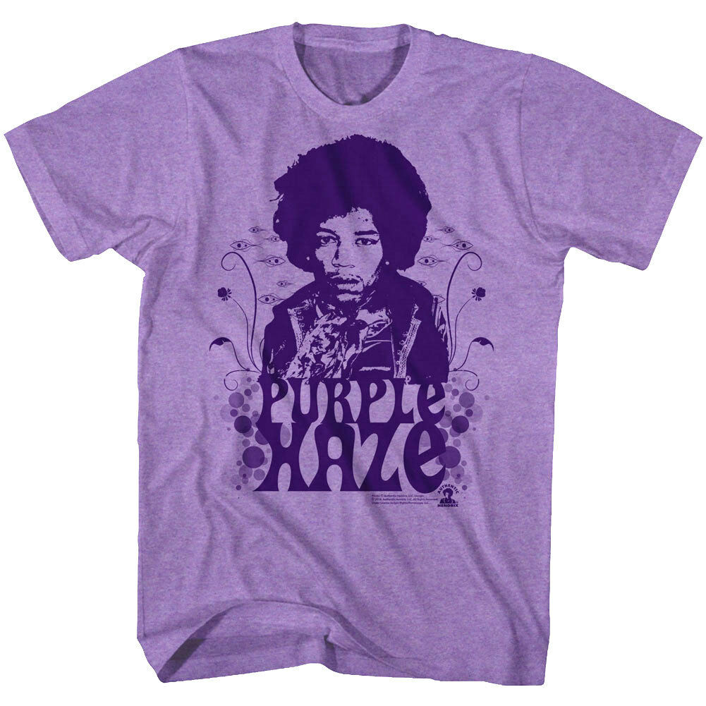 JIMI HENDRIX Mens Tee T Shirt Music Purple Haze Rock Vintage Guitar Black NEW