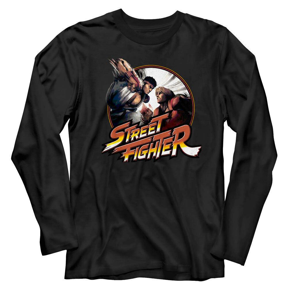Street Fighter Ryu Long Sleeve T Shirt Mens Gaming T Shirts Societees